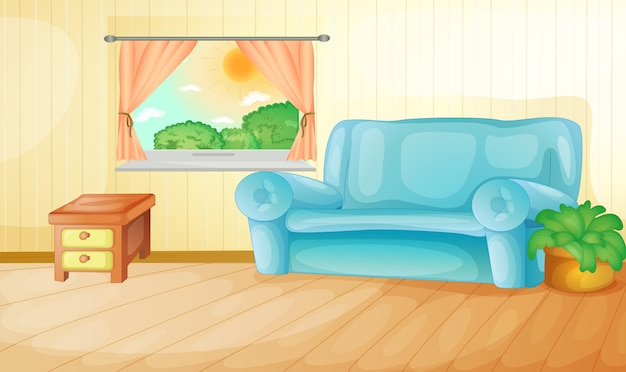 Living room Free Vector