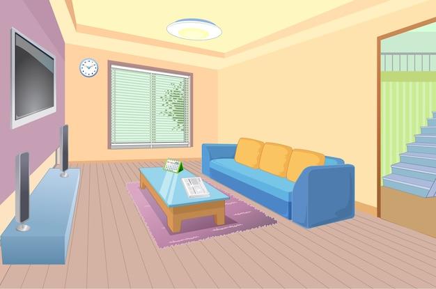 Living room Premium Vector