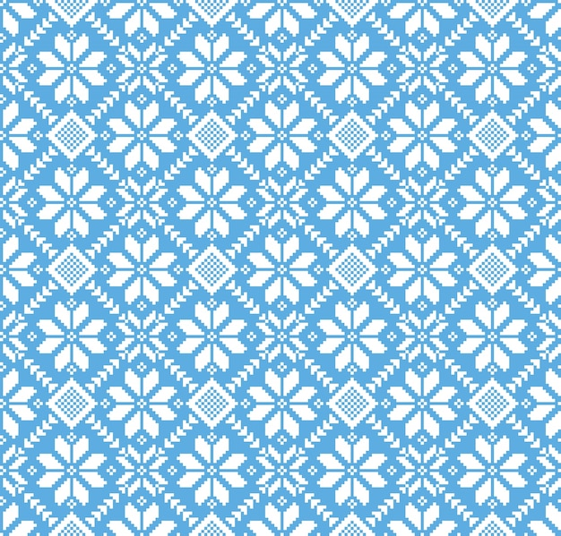 Llustration of ukrainian folk seamless pattern ornament Free Vector