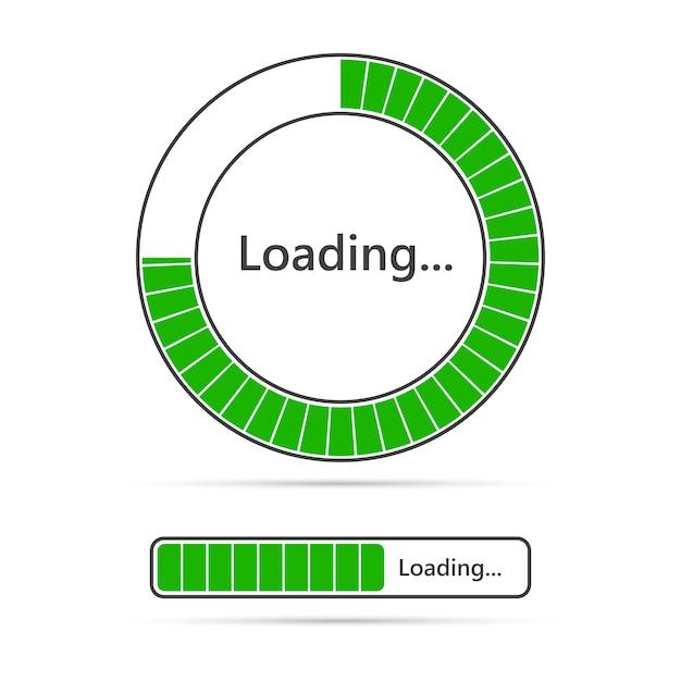 Loading bar icons.  illustration Premium Vector