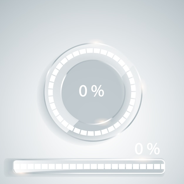 Загрузка стержней и спиннеров с номером шага загрузки Premium векторы