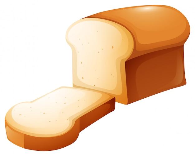 Буханка хлеба и один ломтик Бесплатные векторы