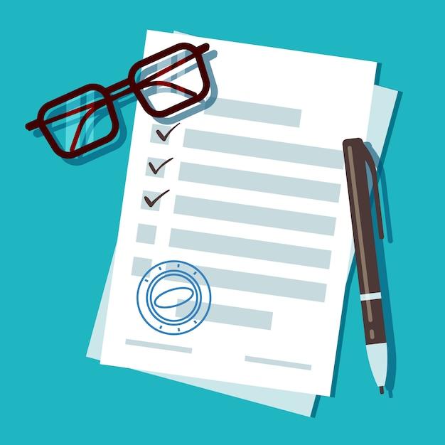 Loan application form document Premium Vector