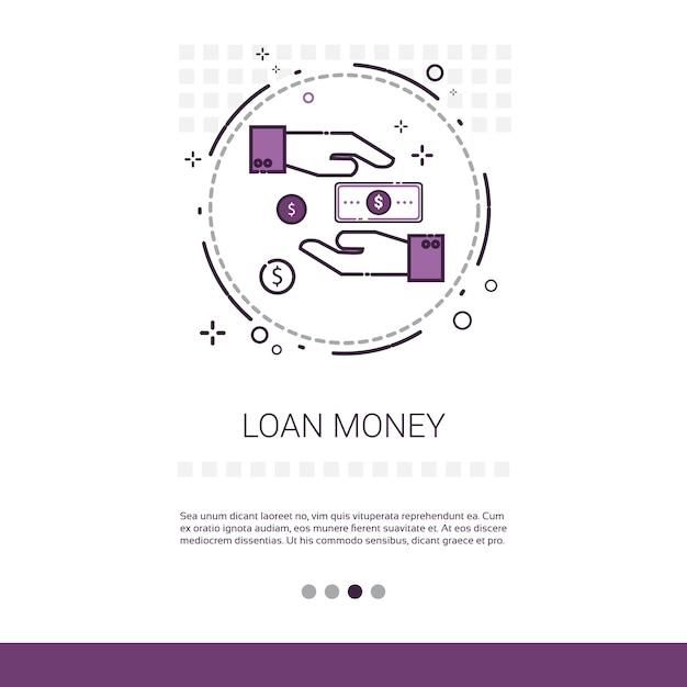 Loan money business investment web banner Premium Vector