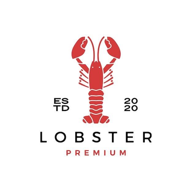Lobster craw fish seafood logo  icon illustration Premium Vector