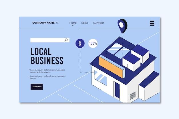 Modello di pagina di destinazione di attività commerciali locali Vettore gratuito