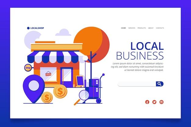 Pagina di destinazione dell'attività commerciale locale Vettore gratuito