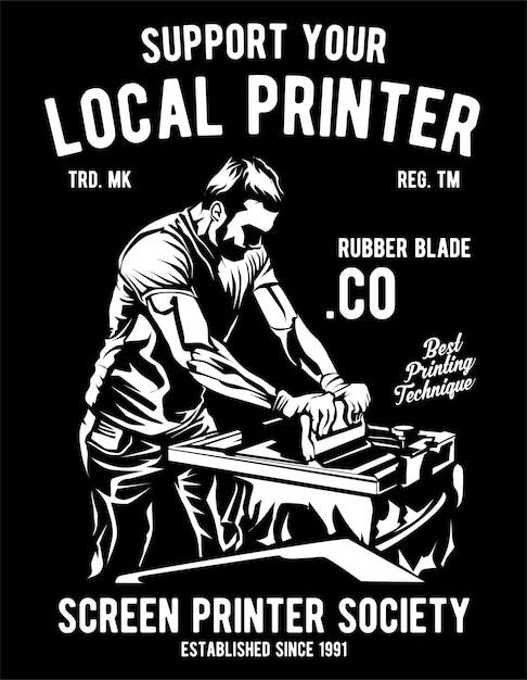 Local printer Premium Vector