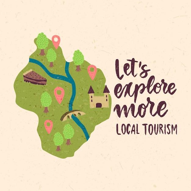 Localtourism concept Free Vector