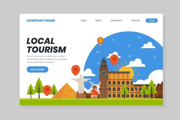 Turismo locale - landing page Vettore gratuito