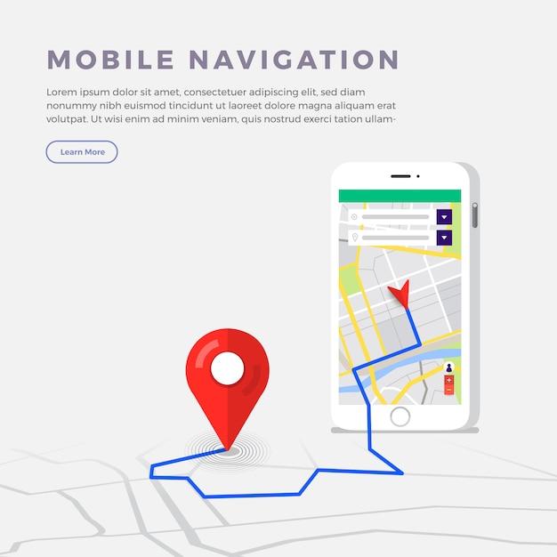 Location navigator concept Premium Vector