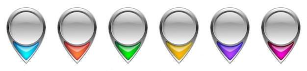 Location pin icons. navigation icon. map pointer Premium Vector