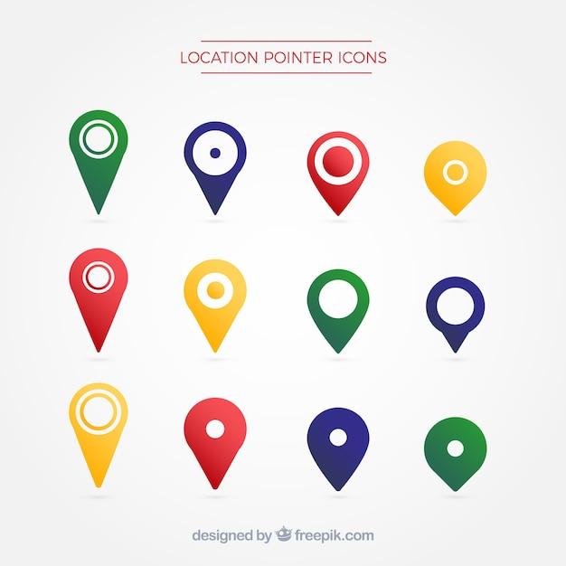 Location pointer symbol Premium Vector
