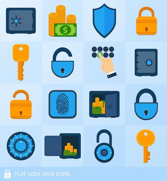 Lock safe elements Free Vector