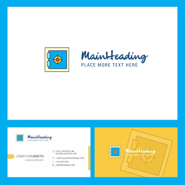 Locker logo with tagline & front and back busienss card template