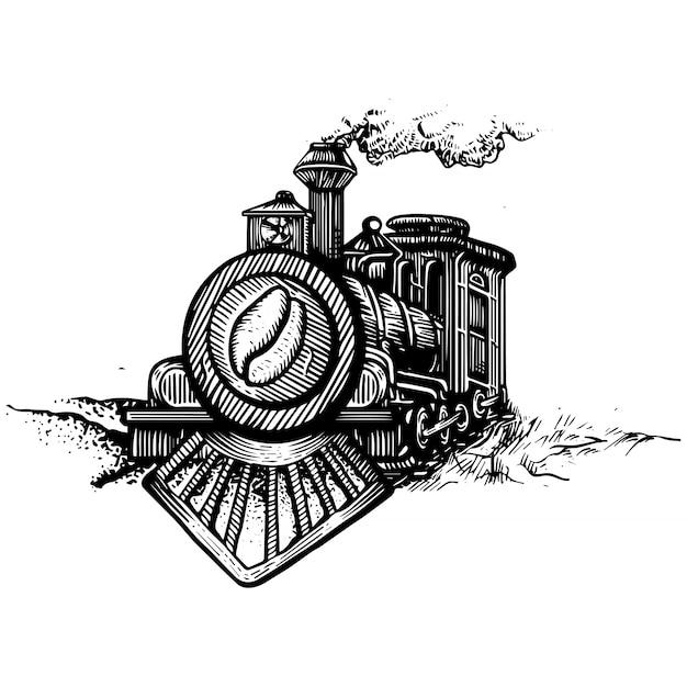 Locomotive coffee Premium Vector
