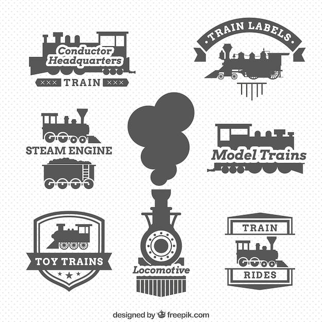 Locomotive labels Premium Vector