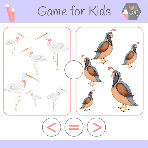 Logic educational game for preschool children.cartoon funny robots. Premium Vector