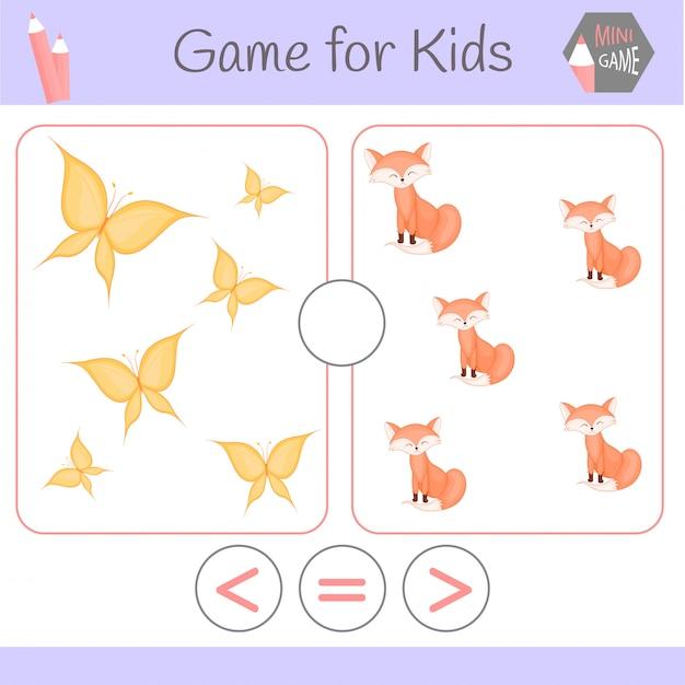 Logic educational game for preschool children. Premium Vector