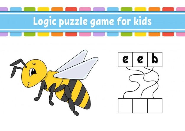 Logic puzzle game. Premium Vector