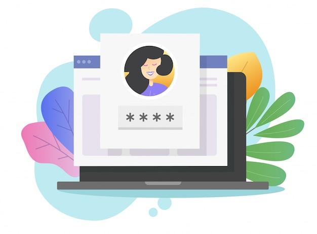 Login password id verification code push message Premium Vector