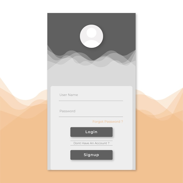 login signup page template vector premium download