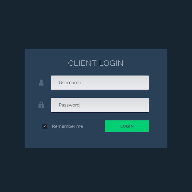 Login template with blue tones Vector   Free Download
