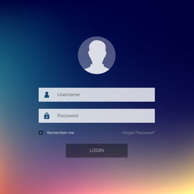 Login template Free Vector