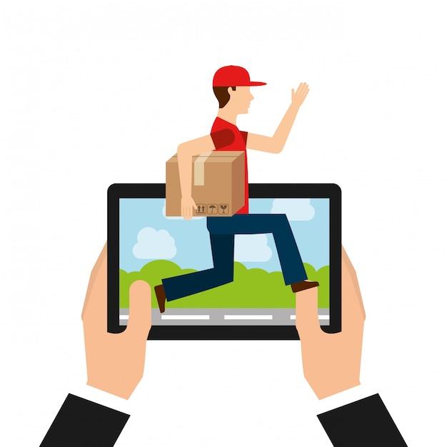 Logistic delivery concept Premium Vector