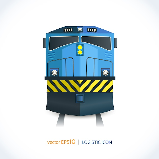 Logistic icon train Free Vector