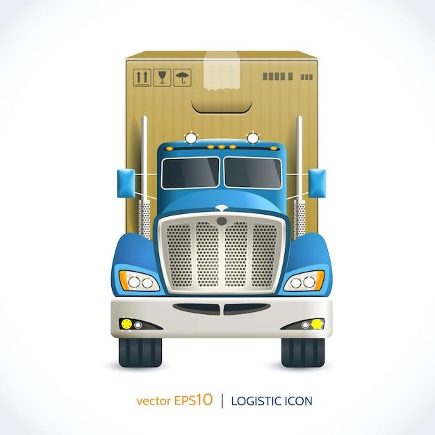 Logistic icon truck Premium Vector
