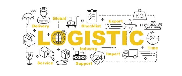 Logistic vector banner Premium Vector