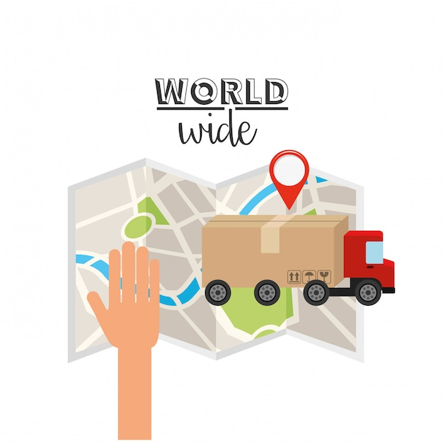 Logistic world wide concept Premium Vector