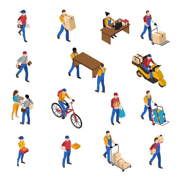 Logistics and delivery icons set Free Vector