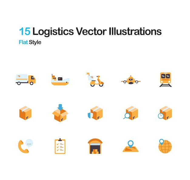 Logistics flat illustration Premium Vector