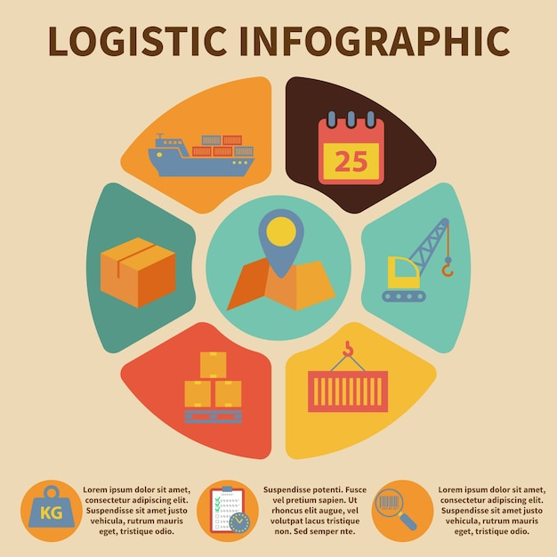 Logistics infographic Free Vector