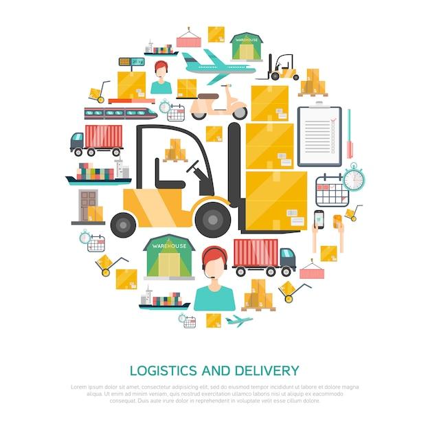 Logistics and transportation concept Free Vector
