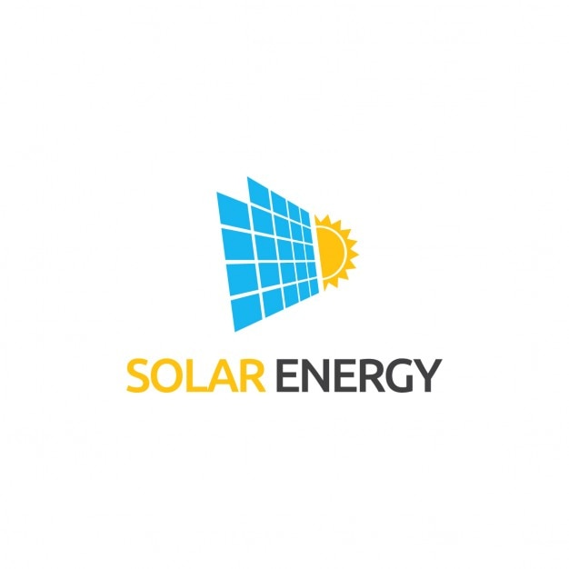logo about solar energy vector free download