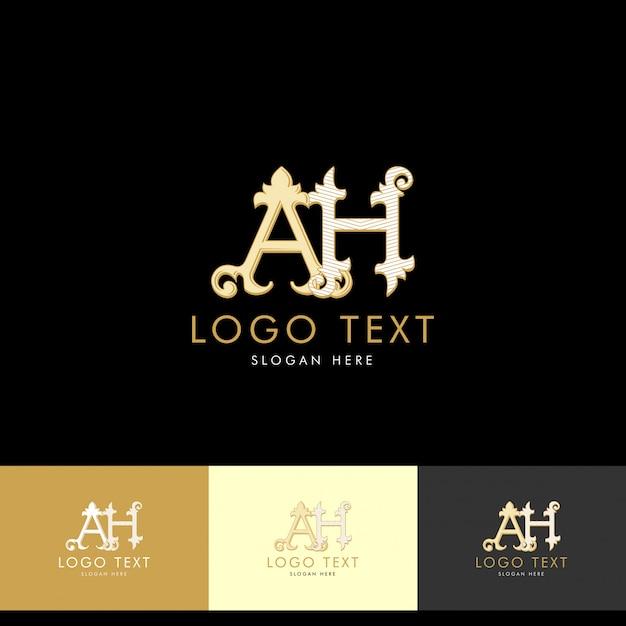 Premium Vector Logo Ah Monogram Ah