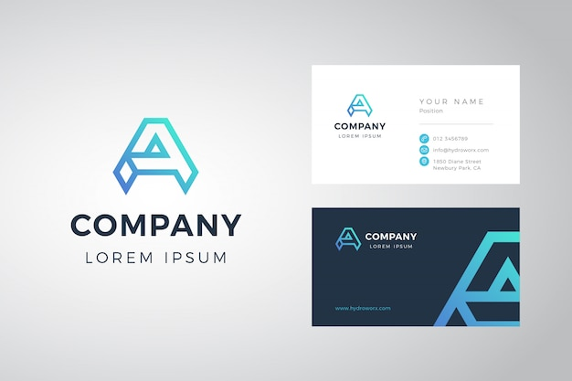 A logo and business card Premium Vector