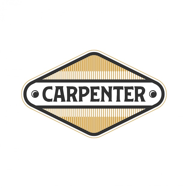 Logo for carpenters with simple models Premium Vector