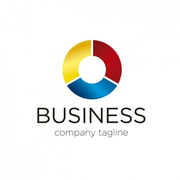 Logo Circular In Three Colors Vector Free Download
