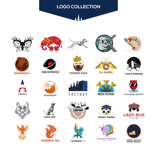 Logo collection vector design for your company or brand Premium Vector