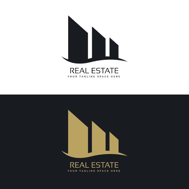 Logo design concept for real estate business Free Vector