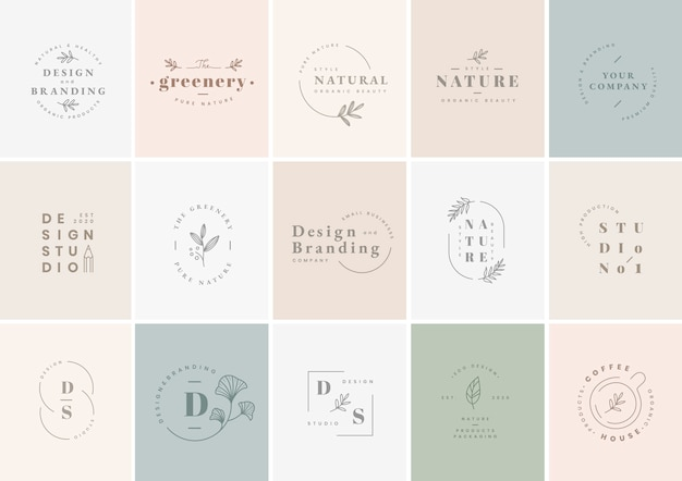 Logo design set Free Vector