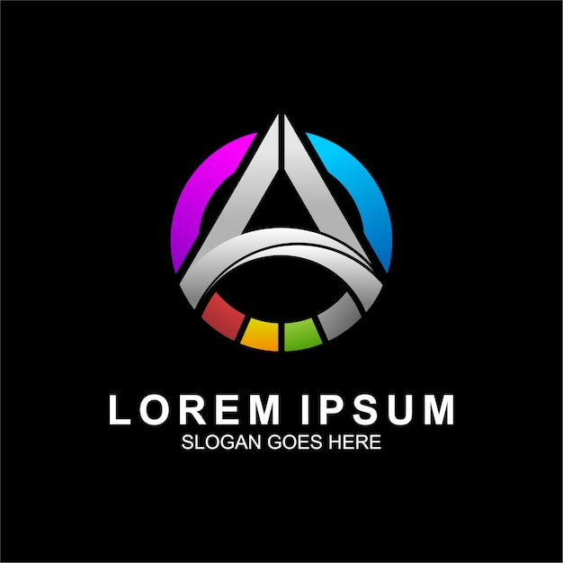 Logo design for technology and computer Premium Vector