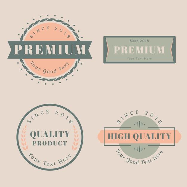 Logo design templates Free Vector