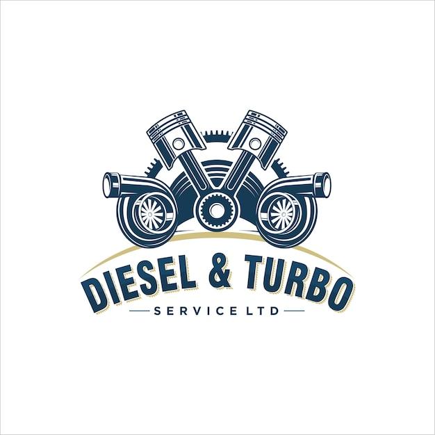 Logo design for turbo Premium Vector