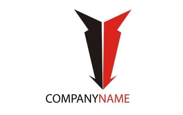 Logo Down Arrow Company Name Free Vector