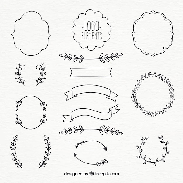 Logo element collection Vector | Free Download